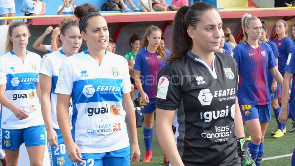 La UDG Tenerife, tercer equipo menos goleado de la Liga Iberdrola