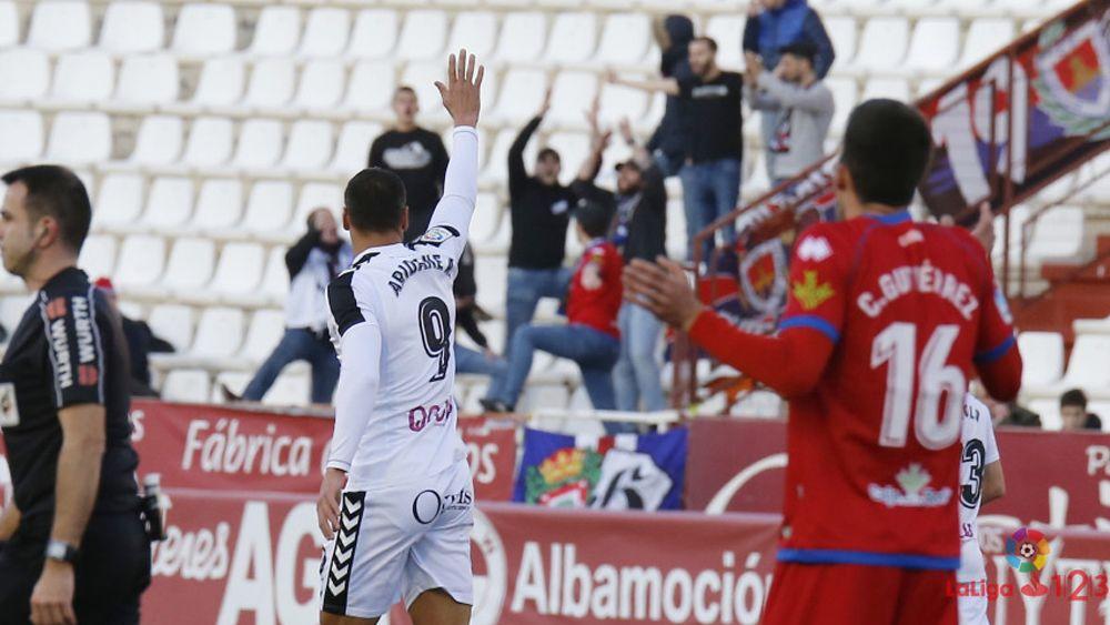 Aridane marca y da la victoria a un Albacete Balompié desahogado