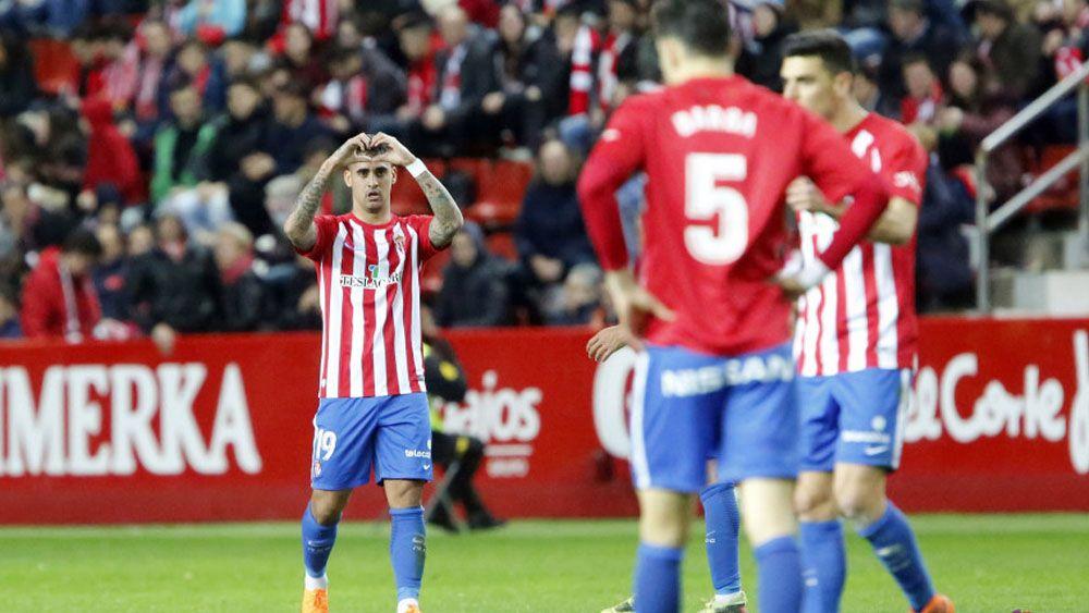 Nano marca su primer gol con el Sporting de Gijón