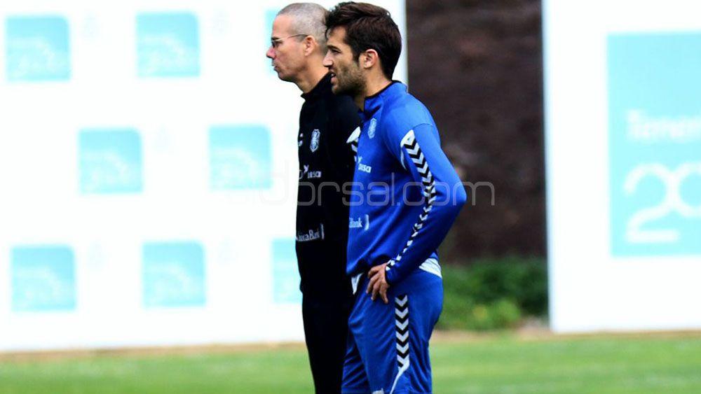 Aitor Sanz no completa el entrenamiento con sus compañeros del CD Tenerife