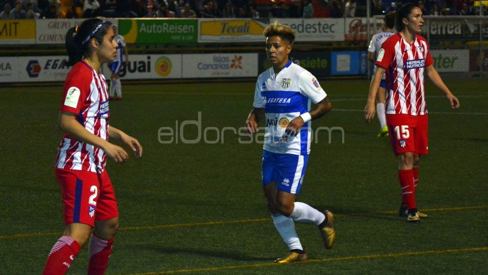Mal día de la defensa de la UDG Tenerife y goleada del Atlético de Madrid