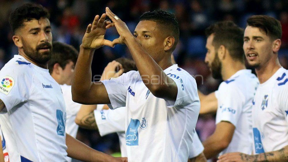 Bryan Acosta, el mejor jugador del CD Tenerife ante el Lorca FC