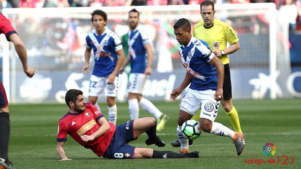 El uno por uno de los jugadores del CD Tenerife contra Osasuna