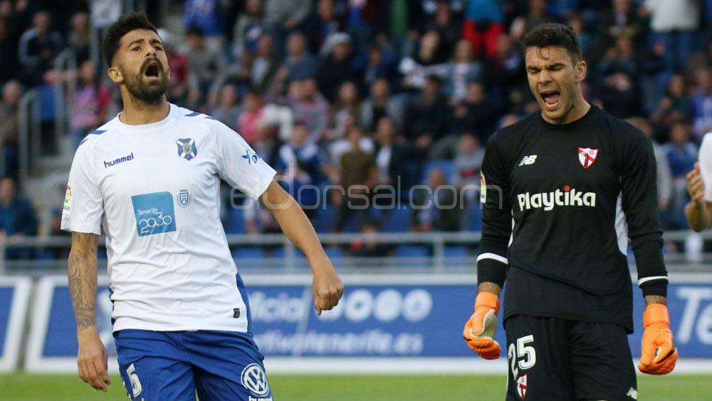 Alberto, el mejor del CD Tenerife frente al Sevilla Atlético, según la afición