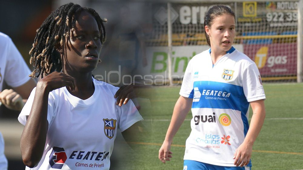 Las jugadoras de la UDG Tenerife Koko y Vatafu regresan a la Isla tras participar con sus selecciones