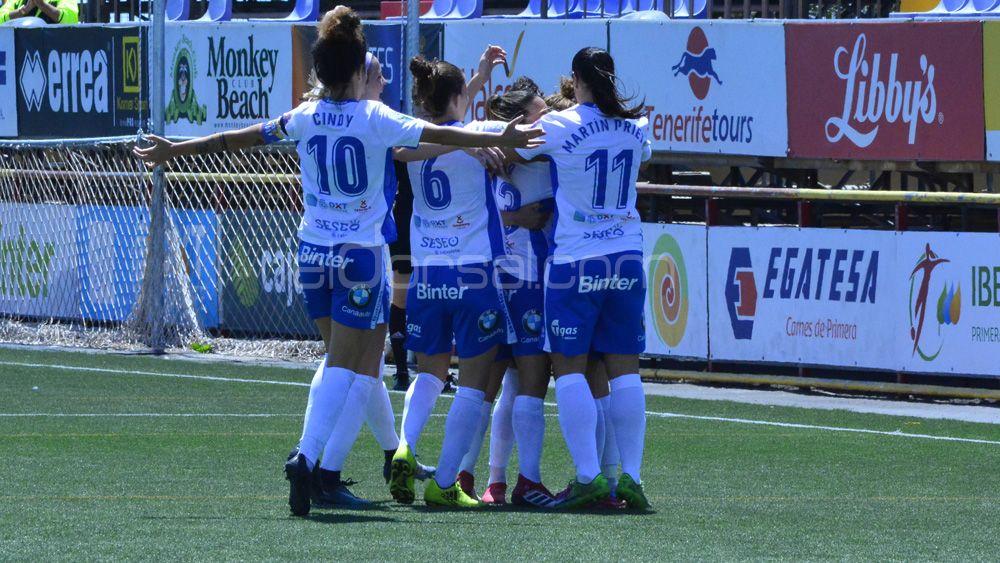 Felicidad plena en la UDG Tenerife, tras una nueva victoria en La Palmera