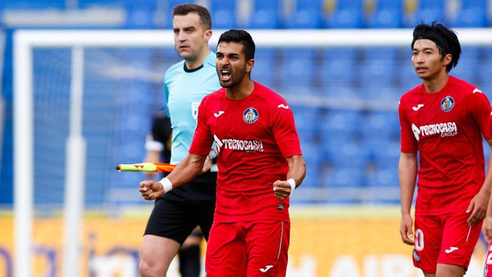 Ángel consigue su gol número 13 ante la UD Las Palmas