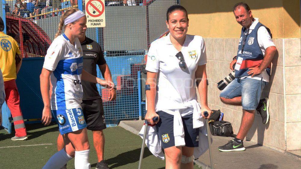 """Andrea Marrero: """"Ha sido muy duro, pero ya estoy bien y debutaré con la UDG Tenerife B"""""""