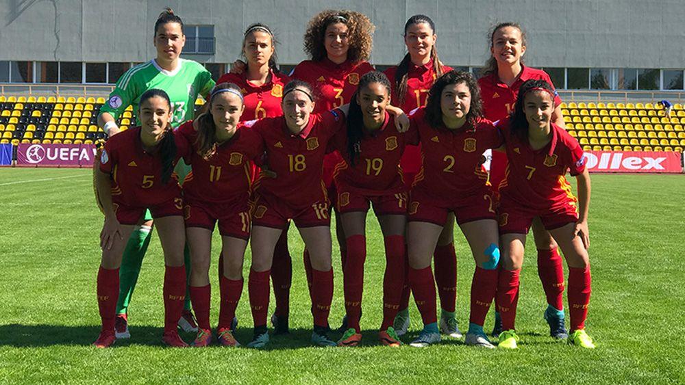 Paola Hernández, de la UDG Tenerife, titular en el debut de España en la Euro sub-17