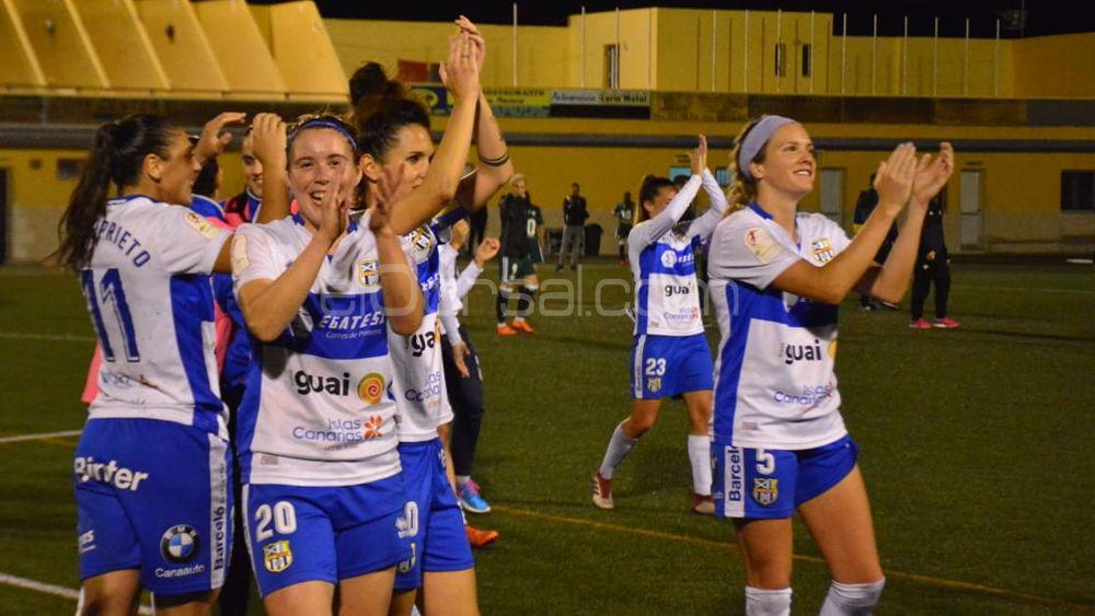 Los goles de Sara Tui y Patri Gavira, y el éxtasis de la afición de la UDG Tenerife