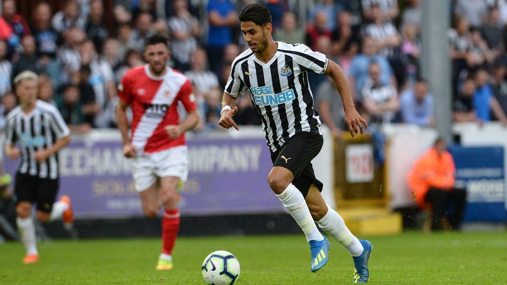 El primer gol de Ayoze en la pretemporada del Newcastle