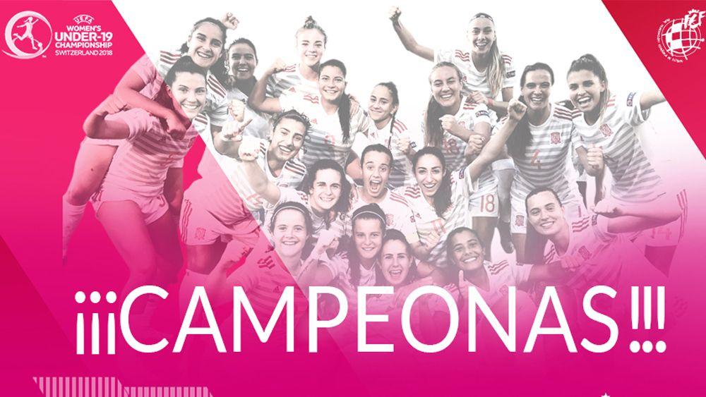 Natalia Ramos, bicampeona de Europa con la selección española sub-19