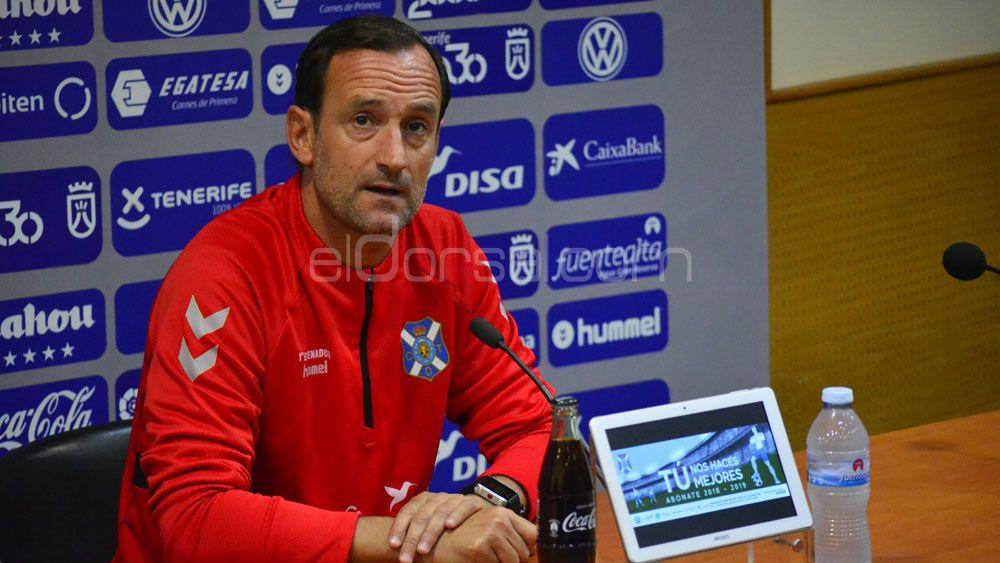 """Etxeberria: """"Habrá cambios en el once del CD Tenerife, y será un equipo reconocible"""""""