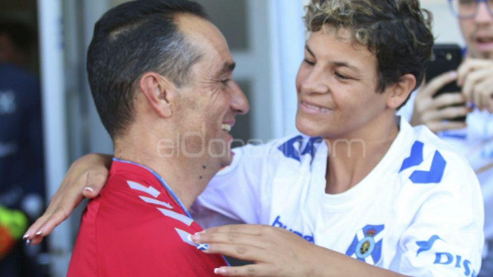 El primer entrenamiento de Jose Luis Oltra con el CD Tenerife