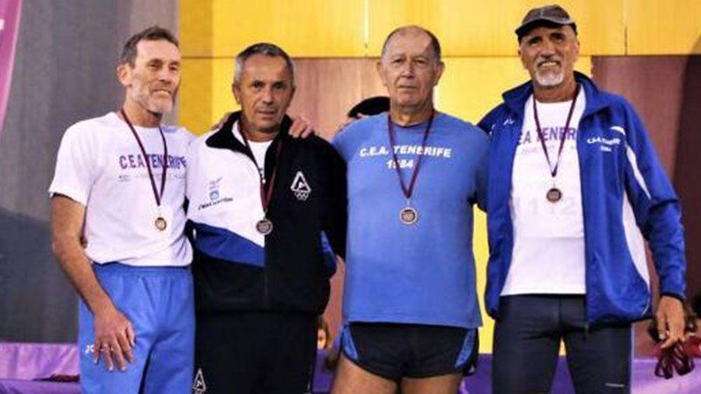 El CEA Tenerife, récord nacional en relevo 4×100 metros en M60