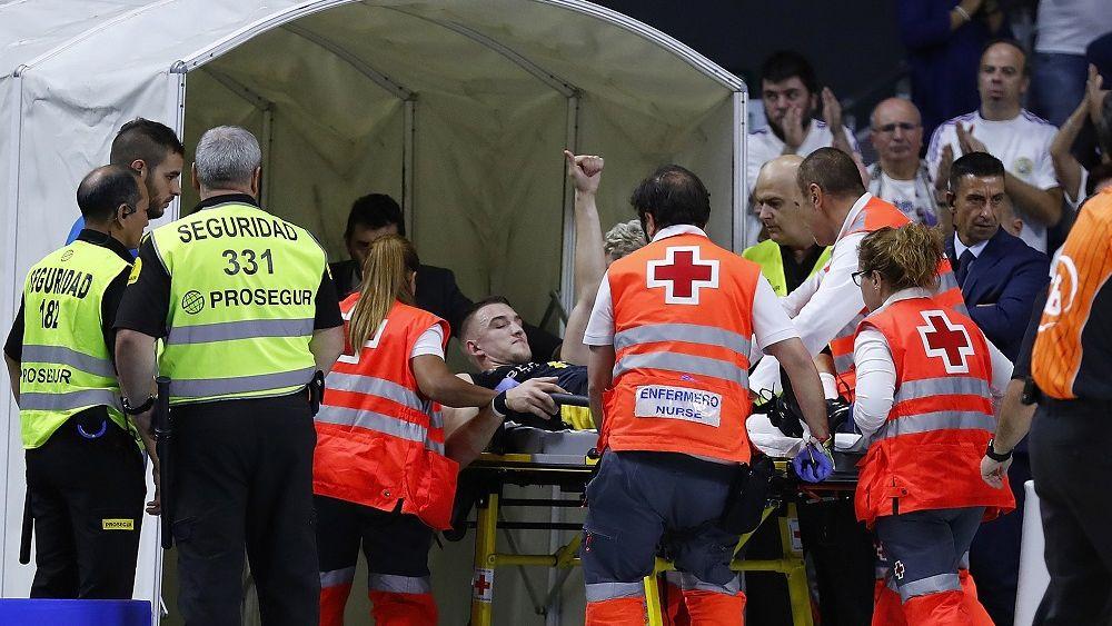 Tomasz Gielo se retira lesionado | ACB Photo-A. Martinez