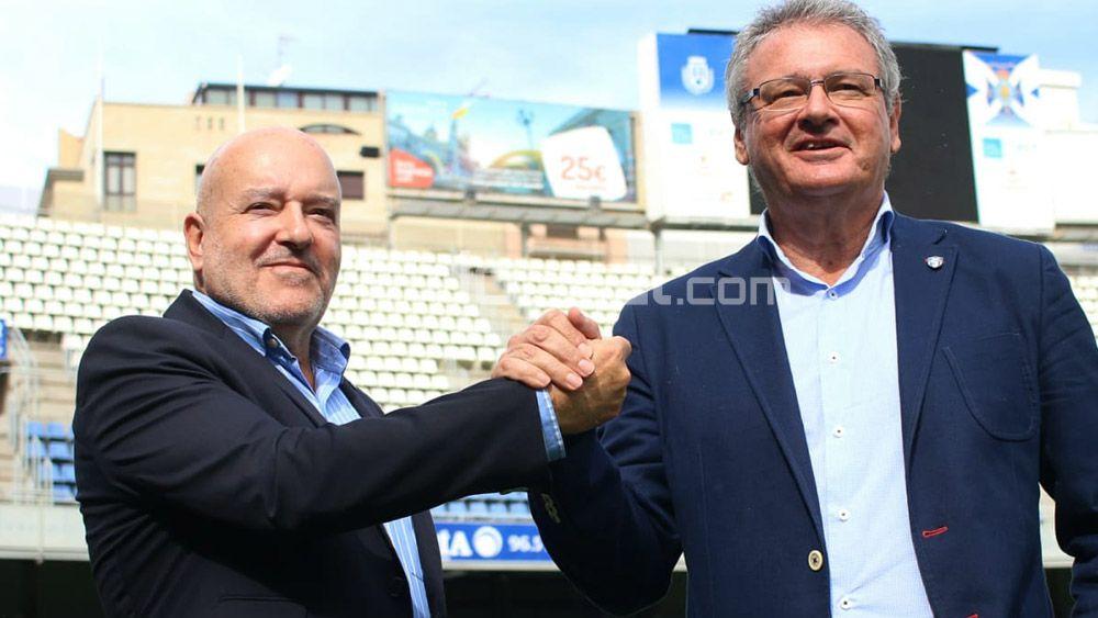 Miguel Concepción y Sergio Batista, presidentes CD Tenerife y UDG Tenerife