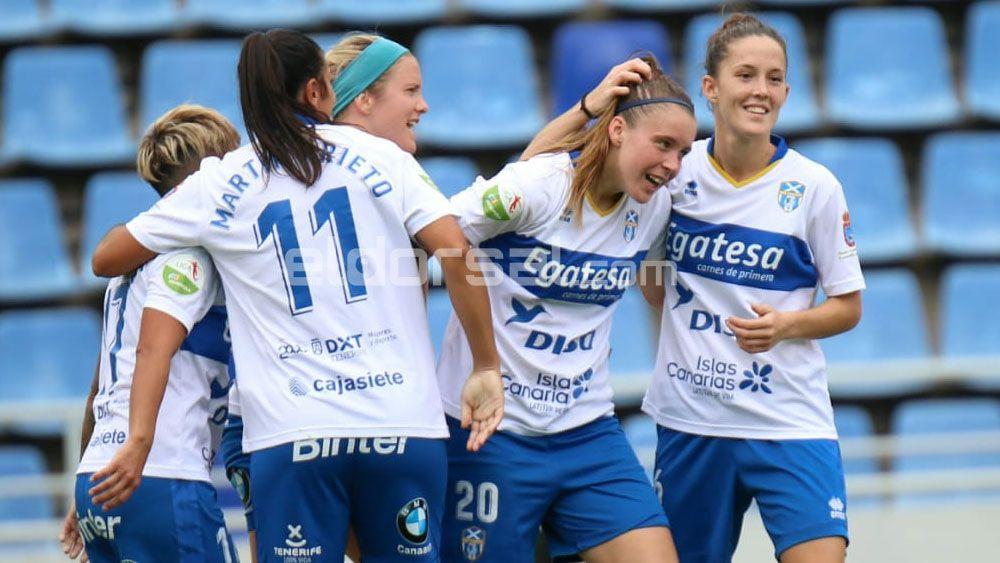 Un gol de Paloma da a la UDG Tenerife la victoria en un duelo histórico