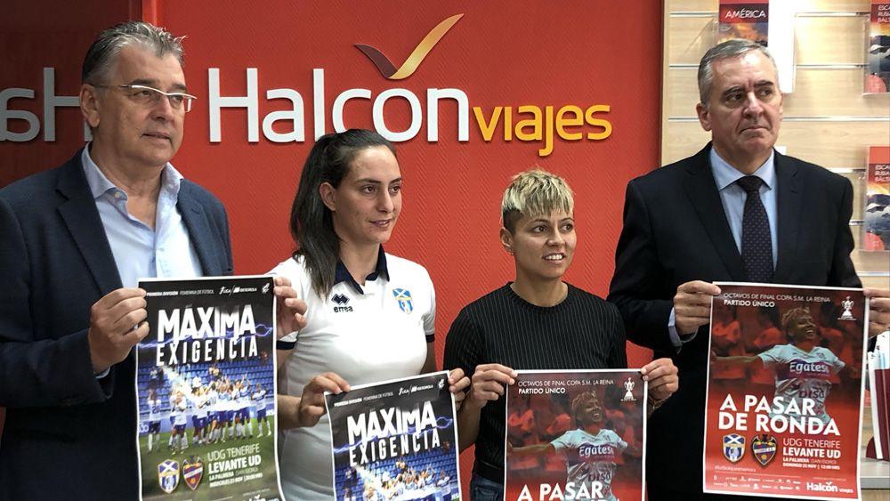 Halcón Viajes patrocina el partido entre UDG Tenerife y Levante