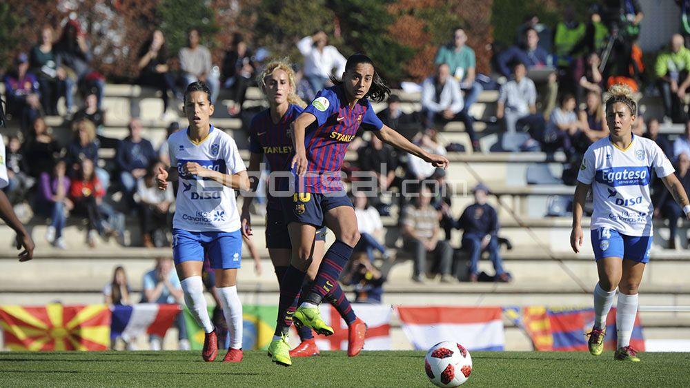 La UDG Tenerife pierde ante un muy superior FC Barcelona