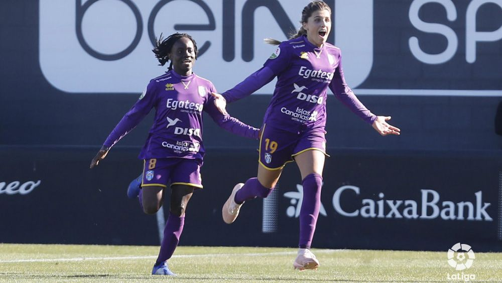 Koko UDG Tenerife celebra un gol | Primera Iberdrola