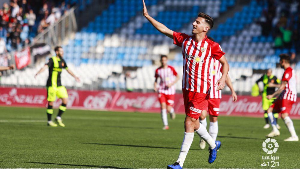 Juan Carlos durante un partido con la UD Almería (Foto: LaLiga).