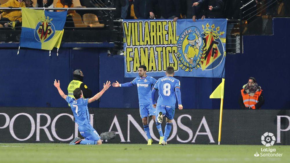 El ex del CD Tenerife Ángel Rodríguez la lía en Villarreal con un gol de cuchara