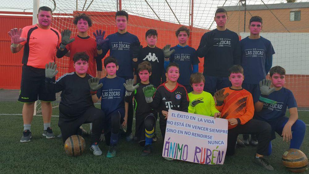 """El fútbol de Tenerife grita con fuerza: """"¡Ánimo Rubén!"""""""