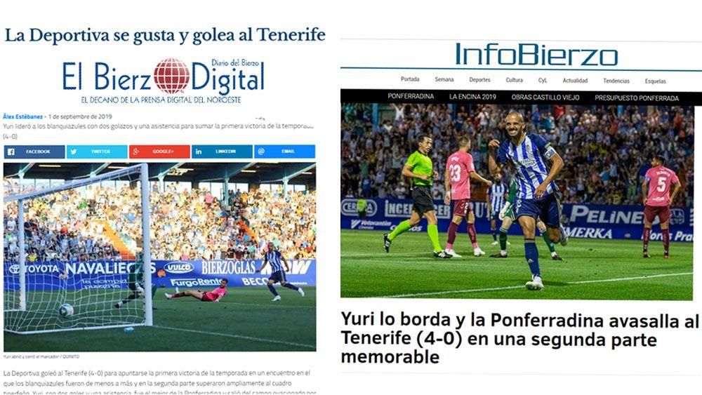 Prensa SD Ponferradina CD Tenerife