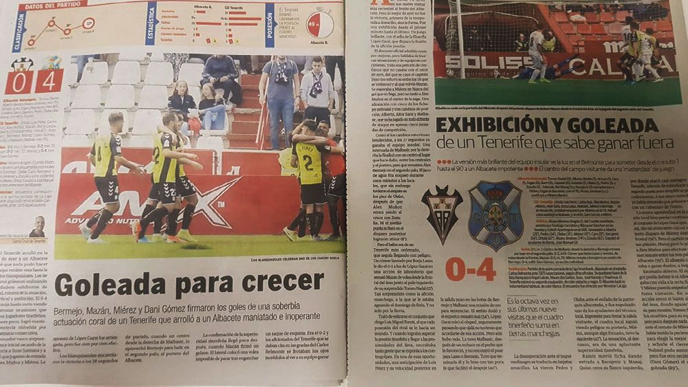 repaso prensa Albacete - CD Tenerife