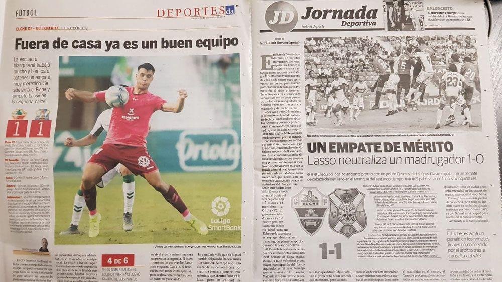 Elche Tenerife prensa