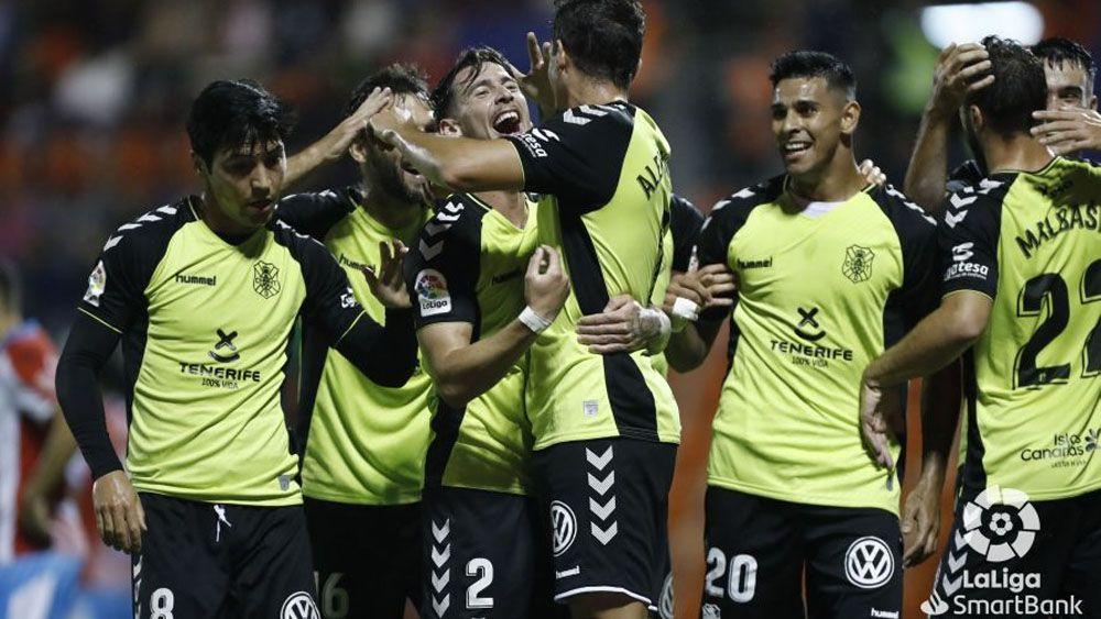 Celebracion goles CD Tenerife ante CD Lugo