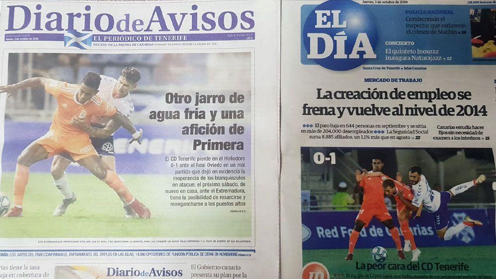 Portadas CD Tenerife Real Oviedo