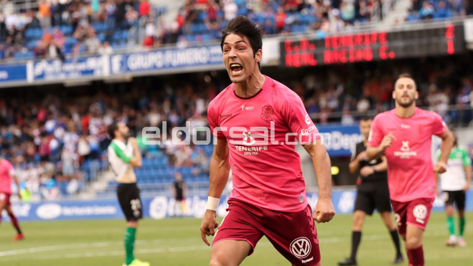 borja lasso celebra un gol ante el Racing de Santander | jacfotografo