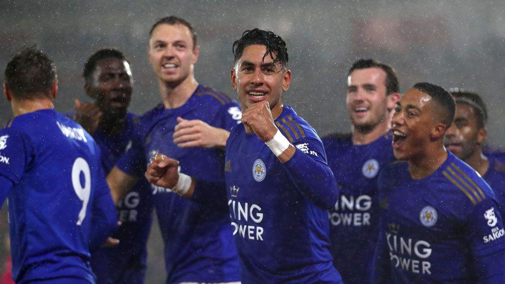 Ayoze Perez Leicester celebración