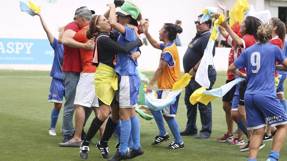 fiesta ascenso Primera División Primera Iberdrola UDG Tenerife | Cedida