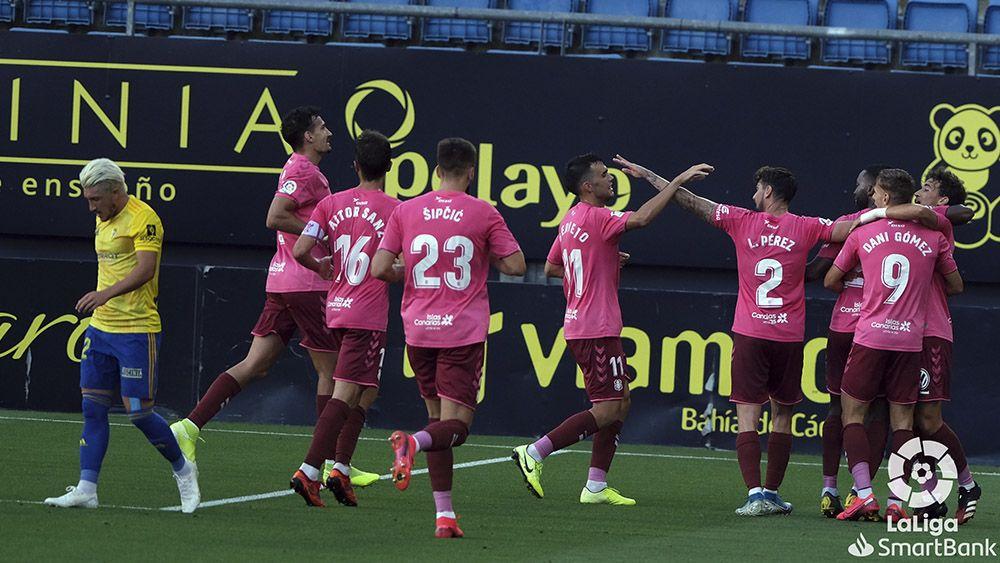 Celebración gol Dani Gómez Cádiz CF CD Tenerife