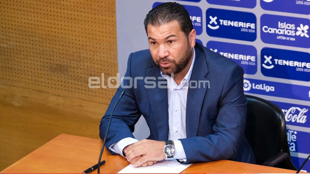 Juan Carlos Cordero Director Deportivo CD Tenerife presentación Fran Fernández