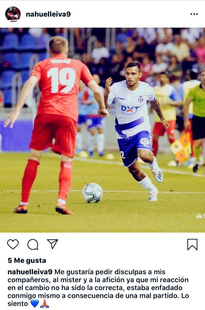 Nahuel Leiva disculpas CD Tenerife