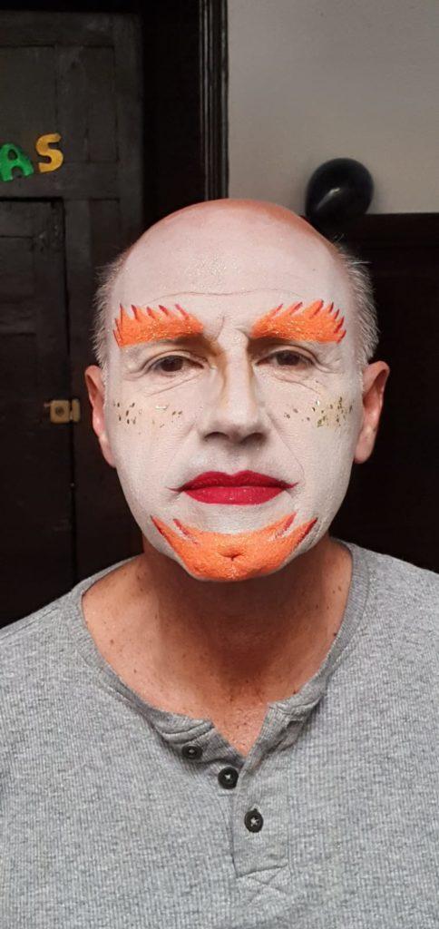 Manolo Peña, con el maquillaje del pasado Carnaval 2020 | CEDIDA