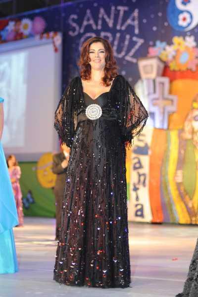 Lucía Luisa en el homenaje que se realizaó a las Reinas del carnaval / CEDIDA