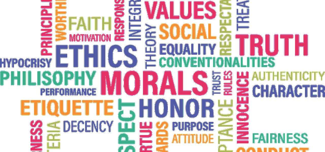 Cartel sobre moral.