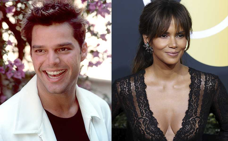 Ricky Martin y Halle Berry