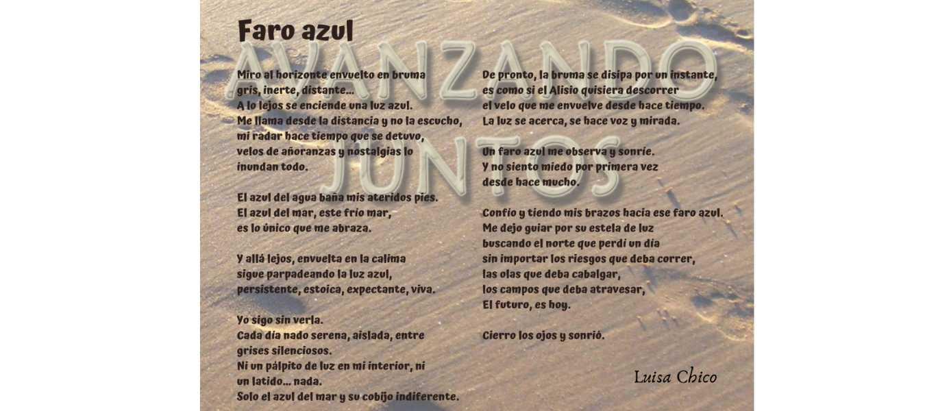 Poema Luisa Chico, Faro Azul